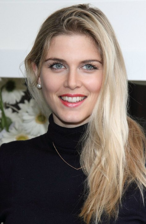 Ashley James Long Blonde Hair And A Turtleneck