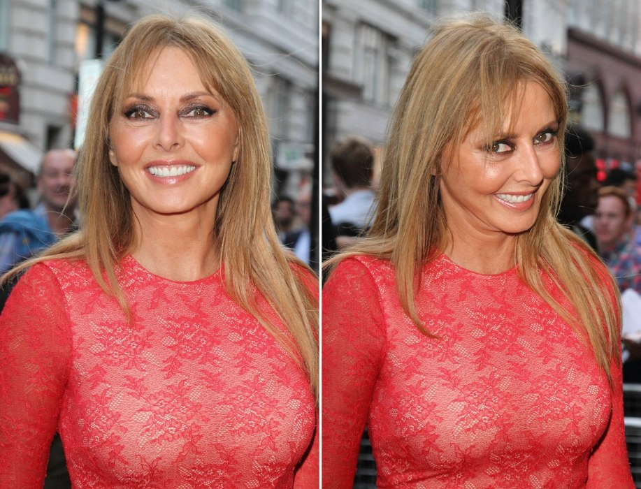 Carol Vorderman Long And Youthful Looking Hair For
