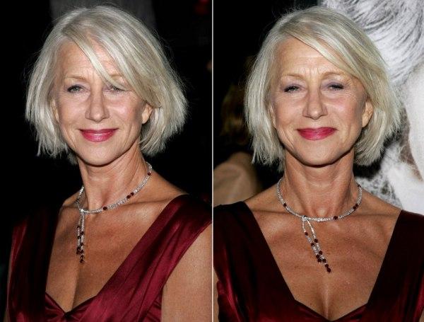 Hairstyle Helen Mirren Gray Hair