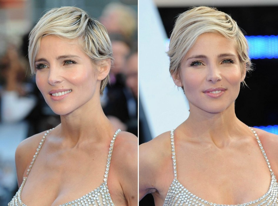 Elsa Pataky Wearing A Longer Pixie With Different Tones Of