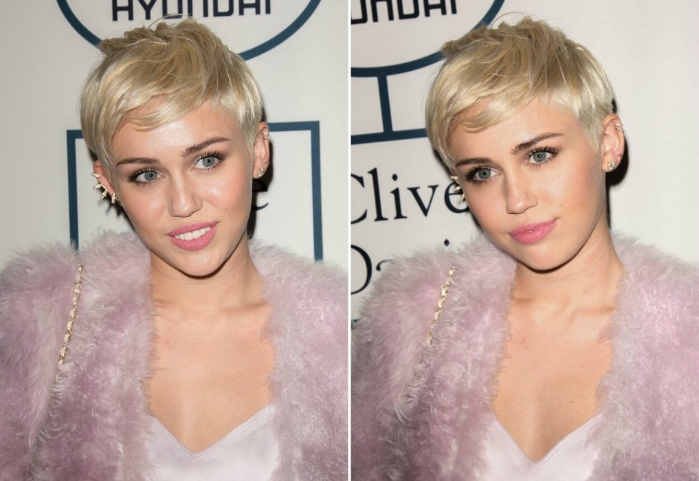 Miley Cyrus Wearing Her Hair In A Pixie With Shaved Sides
