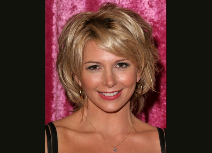 Tamie Sheffield With Short Hair And Layers