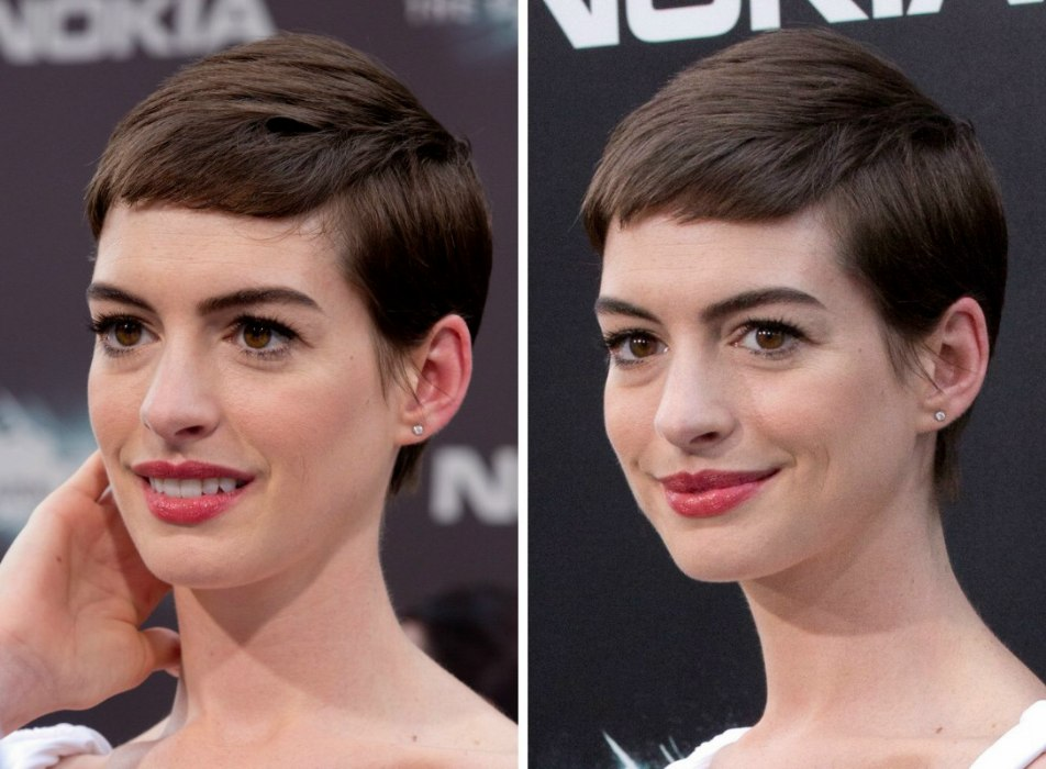 Anne Hathaways Short Haircut Pixie
