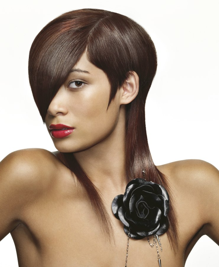Hairstyle With A Combination Of Short And Long Hair
