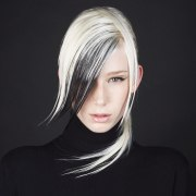 white hair with added black