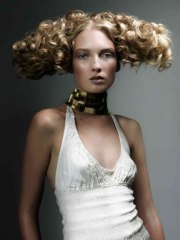 creative hair design with dramatic