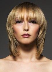 blonde medium length hairstyle