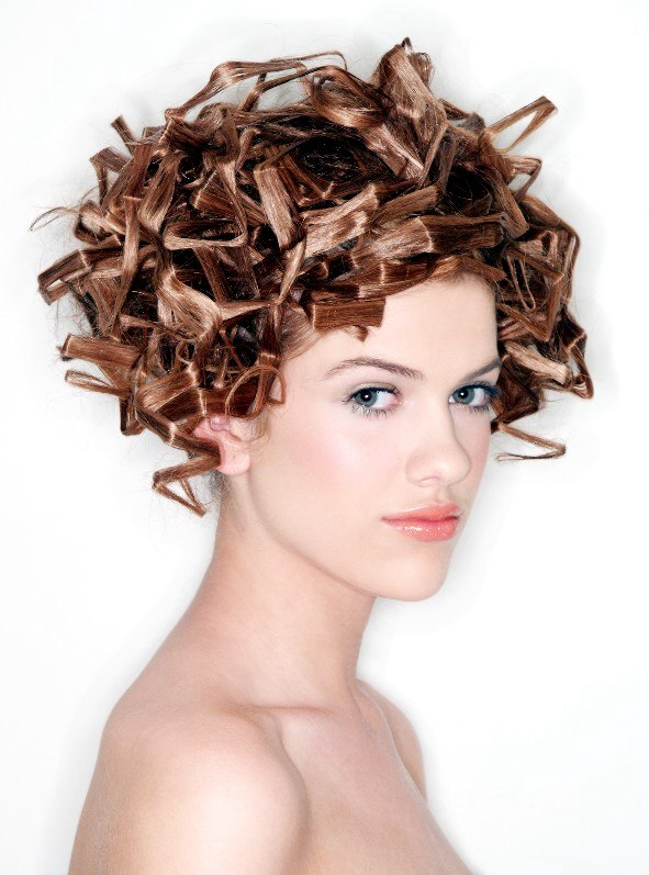 Scifi look hairstyle  Extravagant wedding hairstyle