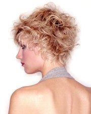 wild short hairstyle with fuzzy