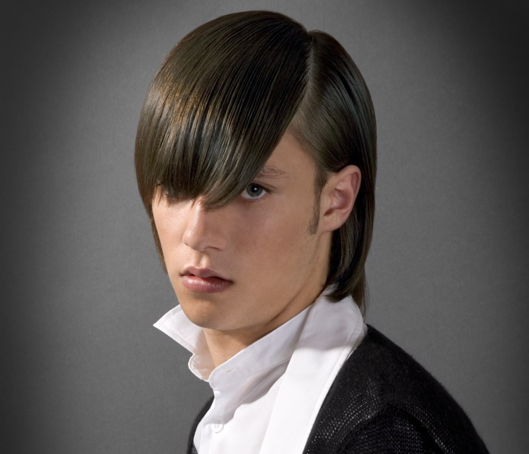 Long Mens Haircut With Simple Styling Behind The Ear