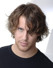 long wild hairstyle men casual