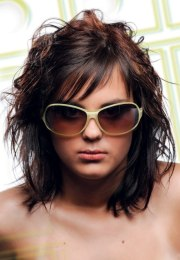 rock star hairstyle with smooth