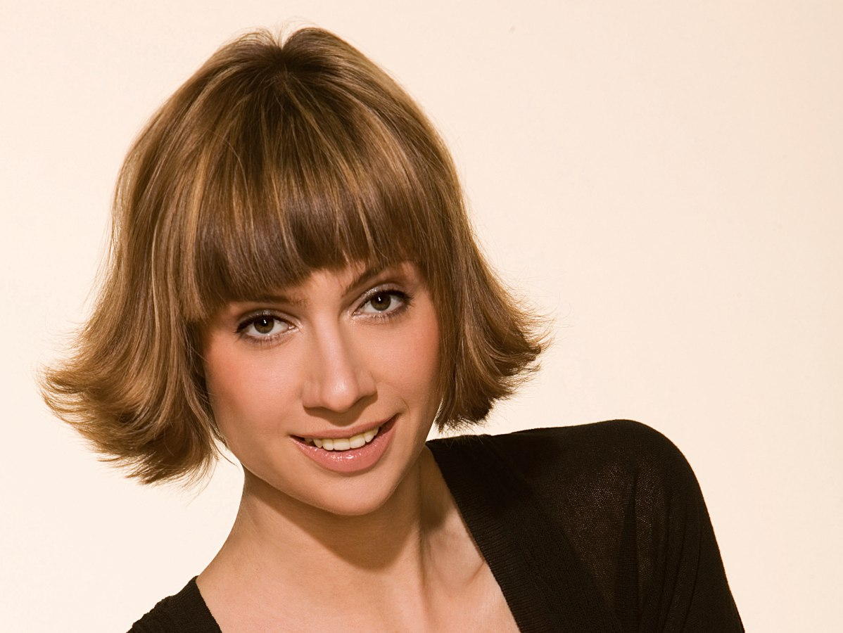 Bob Haircut With Flip Out Styling For Faces With Angular Shapes