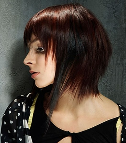 Concave Shape Hairstyle With A Long Front And Shorter Back