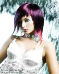 Amethyst or purple color haircut | Created with a razor