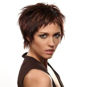 edgy short hairstyle created