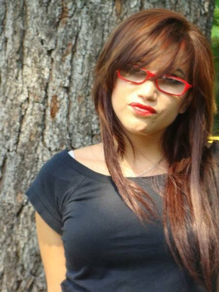 Long Hairstyle With Bangs That Flow Over The Glasses