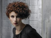 naturally curly hair cut in wedge