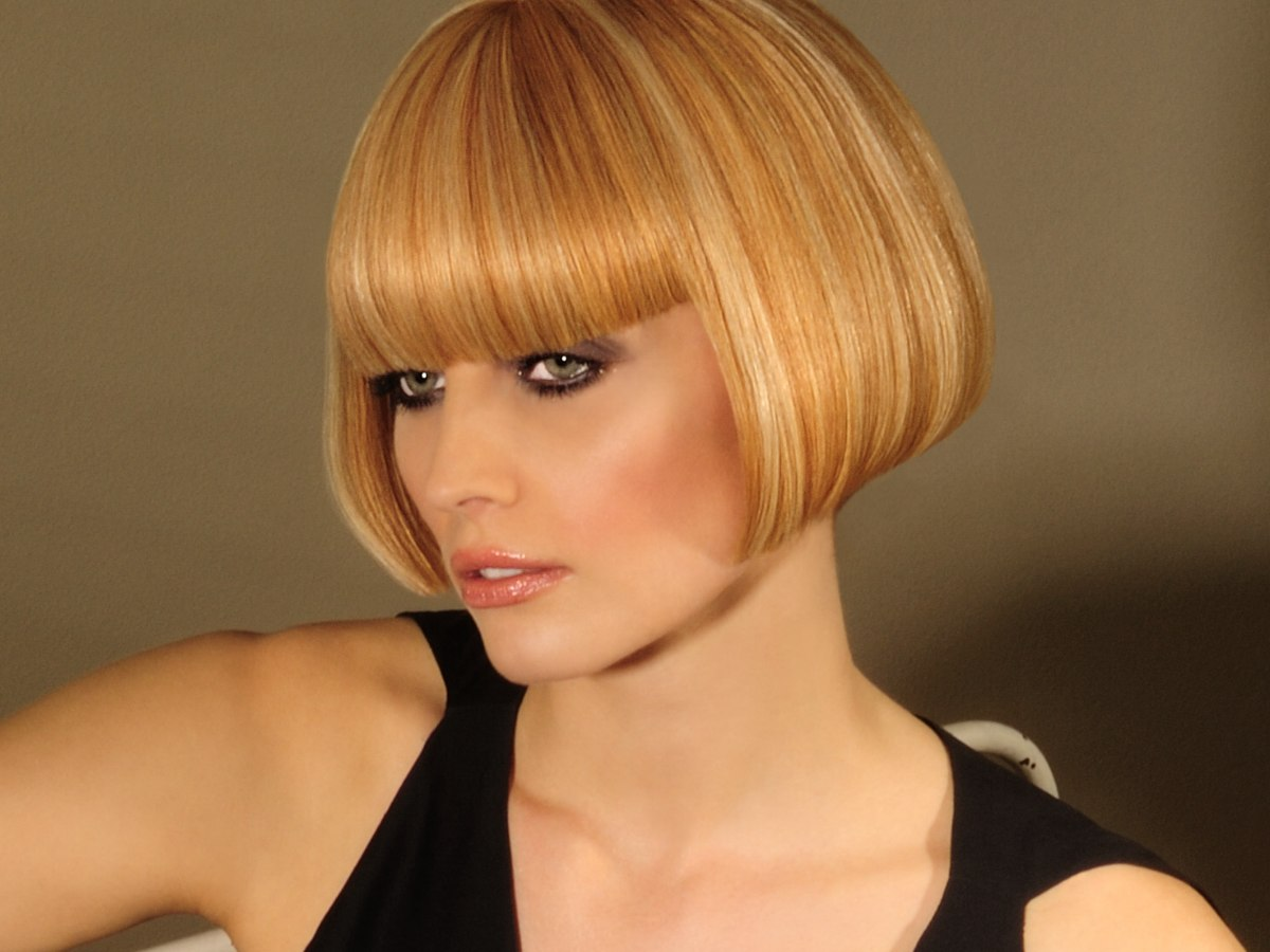 Sharp And Cleanly Defined Short Bob With A Soft Multi
