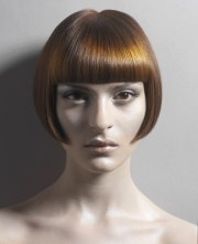 shiny short bob hairstyle cut