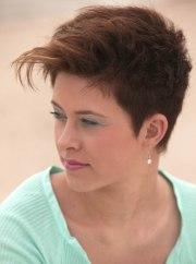 super short hairstyle women