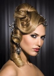 princess hairstyle partially