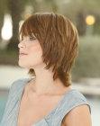 collar length hair