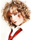 Mid-length curly hair photo