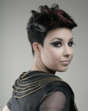 pixie haircut with tight shingle