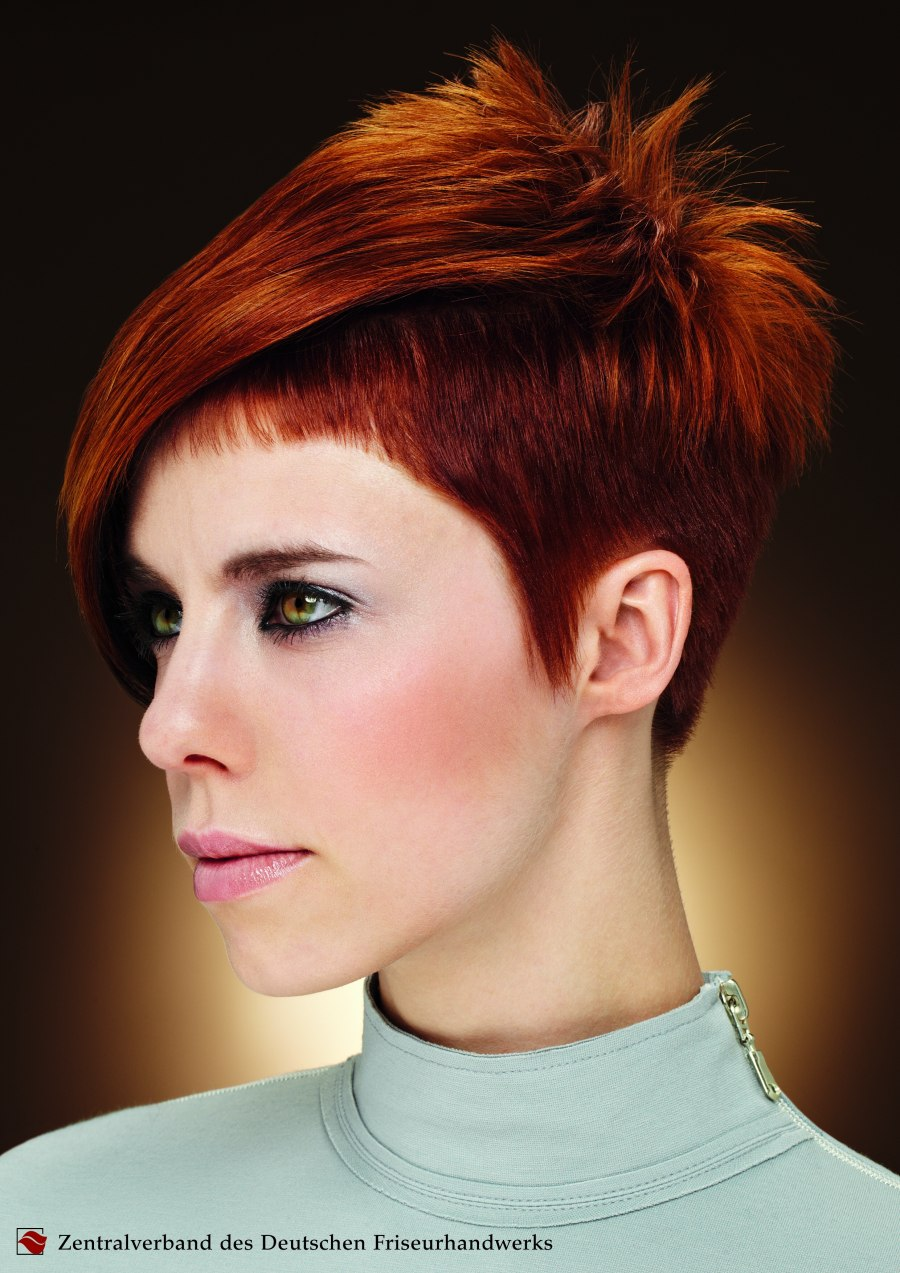 Short womens haircut with clipped sides  Close to the scalp