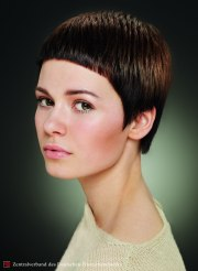 short haircut with dramatically