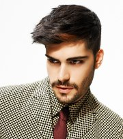 men's haircut with modern elements