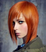 lava red hair with warm tone
