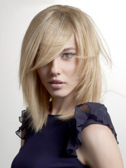 straight hairstyle with tapered