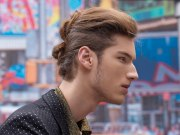 updo men with long hair