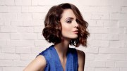 contemporary wavy bob hairstyle