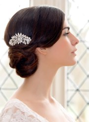 woven updo and 1940s inspired