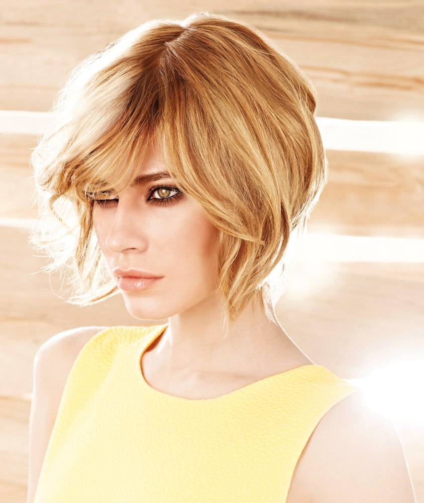 Short Blonde Hair With Movement And Volume