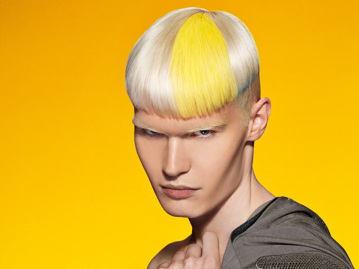 Color Hairstyles Male