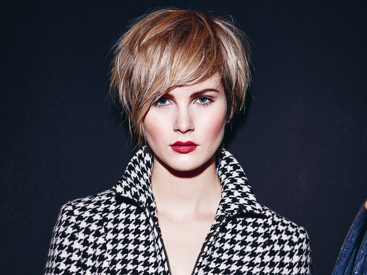 Classy Short Hair With A Feathery Texture And A Long Point