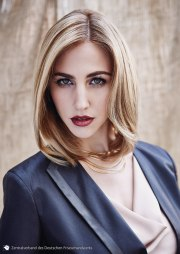 elegant bob hairstyle with curves
