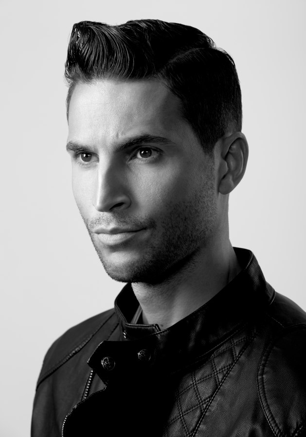 Mens hairstyle inspired by the slick looks of the 1940s