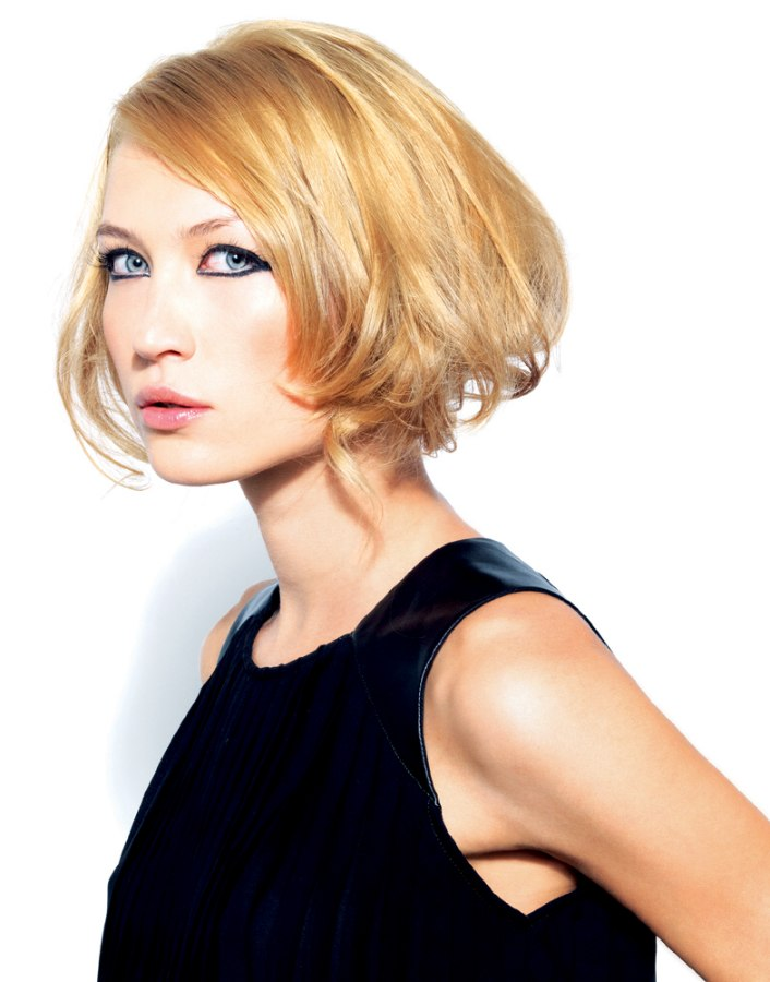 Chin Length Bob Hairstyle With Incredible Volume