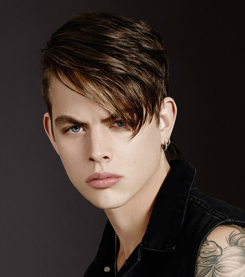 Mens Hair Combed Over To One Side