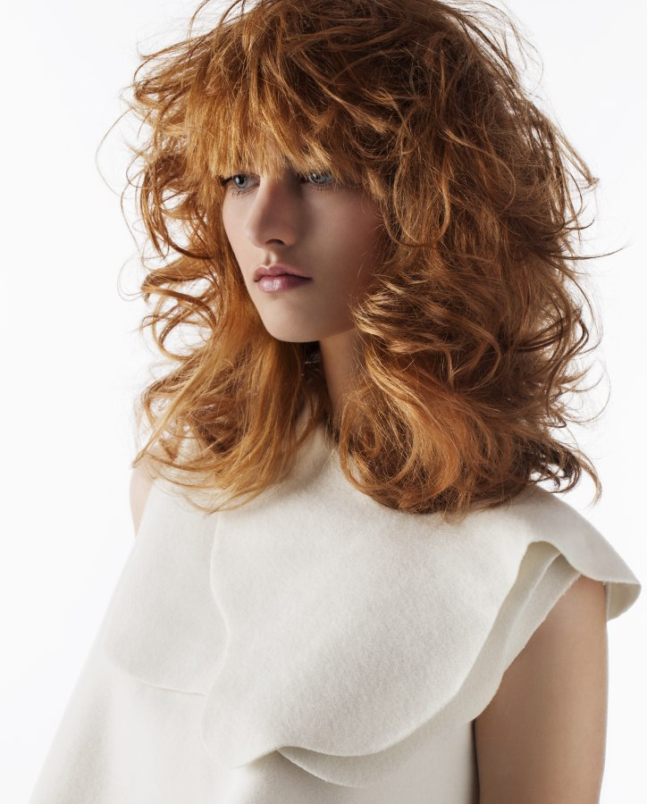 Shaggy Hairstyle With Bed Headed Curls