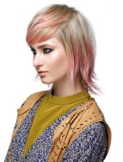 layered medium length hair