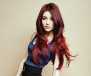 long layered red hairstyles