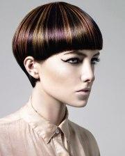 short haircut with daring hair