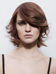 trendy short hairstyle with deep