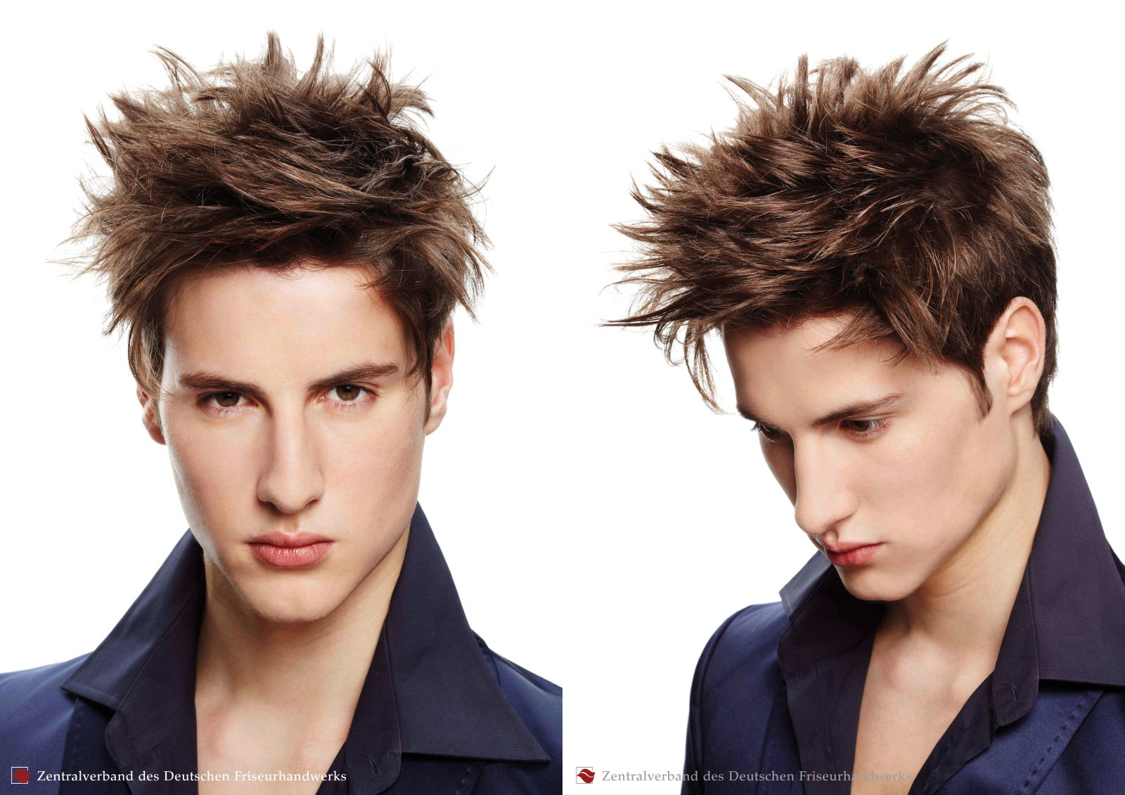 Spiked Hairstyle And Criss Cross Hair Styling For Men